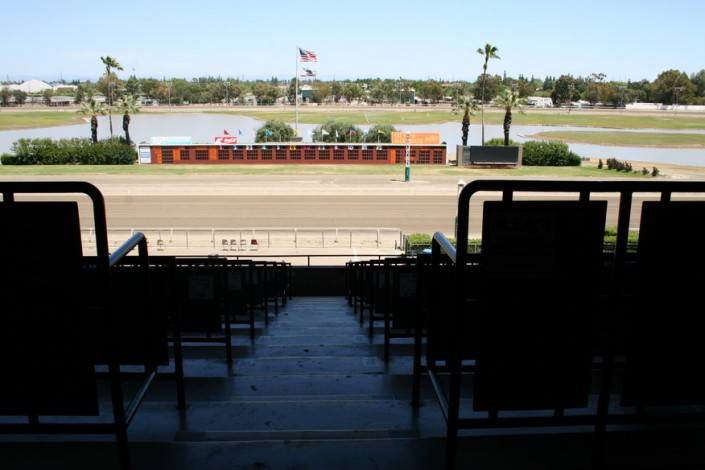 Sacramento Mile View of Track from the Box Seats