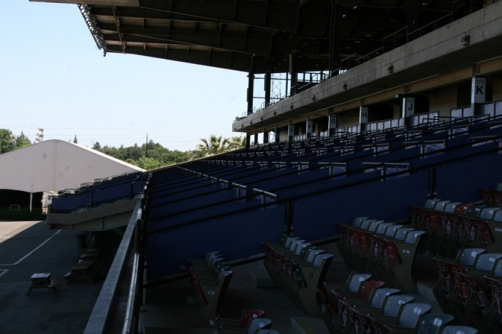 Sacramento Mile Box Seating Overview from Lower Grandstand